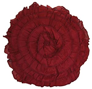 Round Red Decorative Pillows : Amazon.com: RuLu 84301 Decorative Round Rosette Pillow, 17-Inch, Red: Home & Kitchen