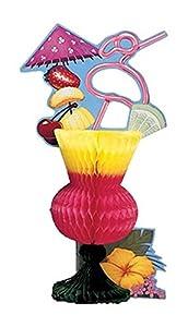 Creative Converting Honeycomb Centerpiece, Luau Tropical Drink