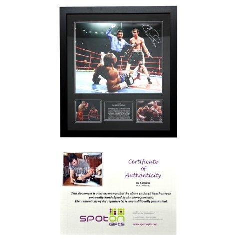Certificato firmato Sport/Movie-Cornice per foto (vari Sport, video e eventi scelta a tutti i prodotti con certificato di autenticità! ottimo regalo per tutti i fan del pallone o i collezionisti., Joe Calzaghe
