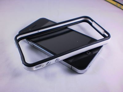 White and Black Premium Bumper Case for Apple