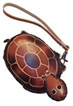 "Turtle Gift - ""Fudge the Turtle"" Leather Coin Purse #1010"