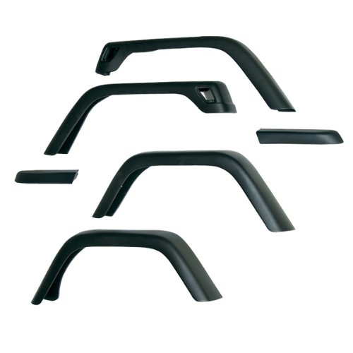 Rugged Ridge 11608.11 7″ Fender Flare Kit for TJ Jeep Wrangler 1997-2006 – 6 Piece