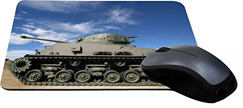 Rikki Knight Green Army Tank on Desert Background Design Lightning Series Gaming Mouse Pad (MPSQ-RK-44315) (Army Mouse Pad compare prices)