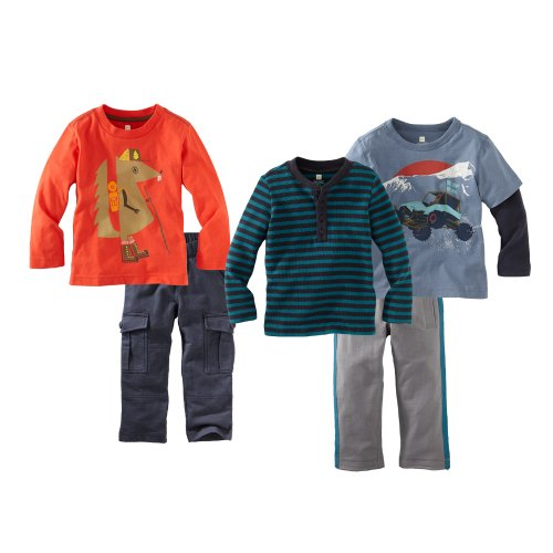Tea Collection Baby-Boys Infant Off Road Wanderer 5 Piece Set, Multi-Colored, Large  Review