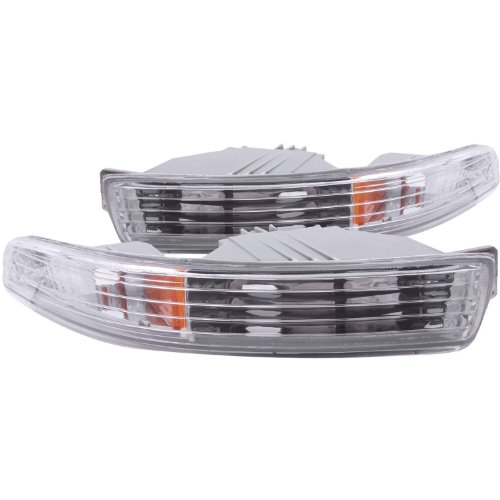 Anzo USA 511020 Acura Integra Chrome Euro w/Amber Reflector Bumper Light Assembly - (Sold in Pairs) (97 Integra Bumper Lights compare prices)