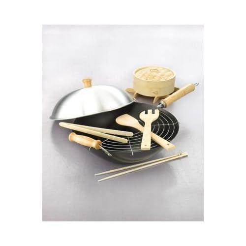 Amazon.com: Martha Stewart Collection 10-Piece Wok Set: Kitchen Tool
