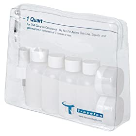 Travel Accessories 1-Quart Zip Bag with Bottles by Travelon