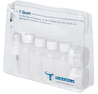 1-Quart Zip-Top Bag with Plastic Bottles