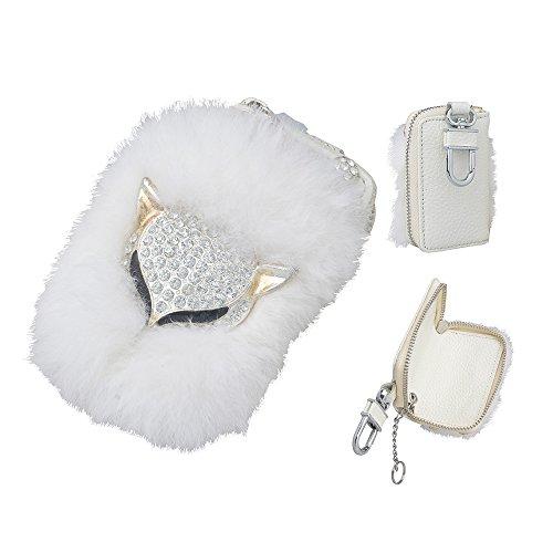 Spritech(TM) 3D Handmade Luxury Shining Glitter Crystal Diamond Rhinestones Universal Car Smart Key Chain Leather Holder Cover Case (Xperia X10 Mini Case compare prices)