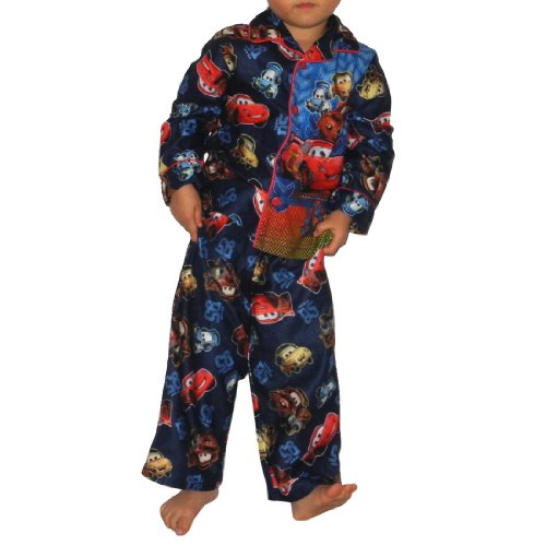 2 PCS SET: Boys Or Girls Disney Cars Fleece Sleepwear Pajama Top & Pants Set