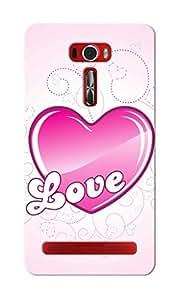 CimaCase Love Heart Designer 3D Printed Case Cover For Asus Zenfone 2 Laser ZE601