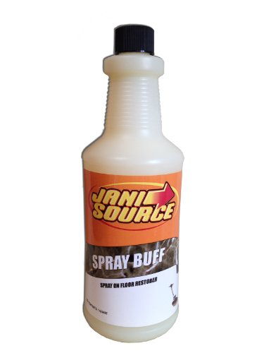 Janisource Spray Buff Floor Maintainer - 3 (1 Quart) Bottles