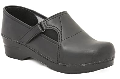 Dansko Professional Pita Box Black Leather Clogs 38 / 7.5 - 8
