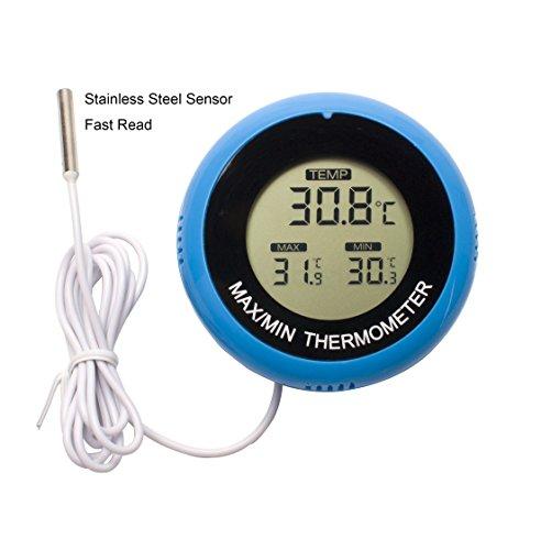 Aquarium thermometerdaen digital water thermometer fish for Temperature for fish