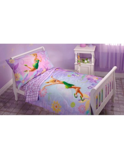 Tinkerbell comforter twin sheets sets for little girls for Tinkerbell bedroom furniture