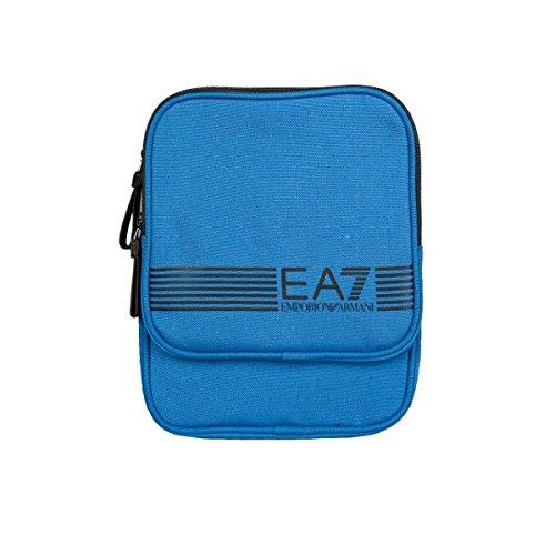 Emporio Armani EA7 borsa uomo a tracolla borsello in nylon core id blu