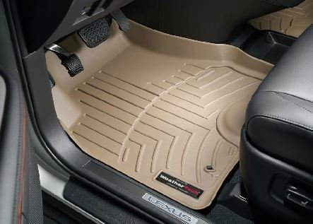 2007 2009 lexus rx 350 tan weathertech floor liner full set floor parking mats. Black Bedroom Furniture Sets. Home Design Ideas