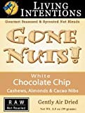 Living Intentions: Gone Nuts! White Chocolate Chip Cashews, Almonds, & Cacao Nibs, 3.5oz (Raw/Sprouted Snacks)