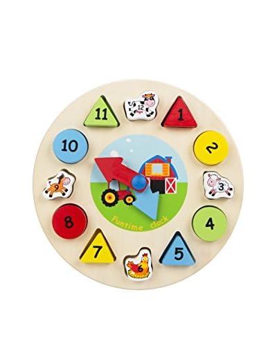 Color Baby  Reloj Puzle De Madera