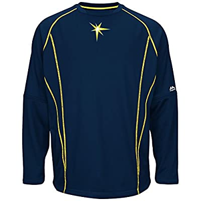 Tampa Bay Rays Navy On-Field Practice Pullover by Majestic