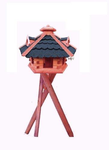 vogelhaus gross mit st nder 53 cm bitumen blau. Black Bedroom Furniture Sets. Home Design Ideas