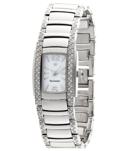 Yves Camani Women's Quartz Watch JULIETTE Crystal Silver YC1035-B YC1035-B with Metal Strap
