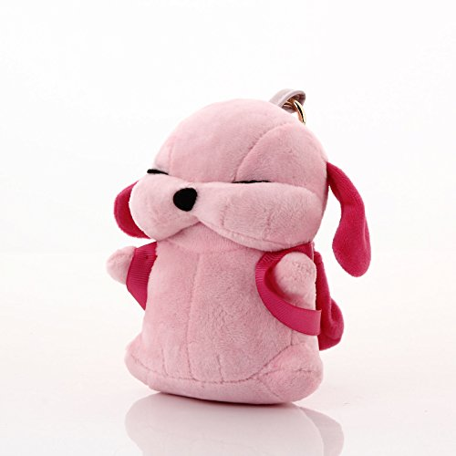 DiDiMi Cute Stray Dogs with Small Backpack Storage Function Plush Animal Doll Ornament Power Bank 7800mAh High Speed Portable External Battery Charger for iPhone 6, 6s Galaxy and Other Devices Pink