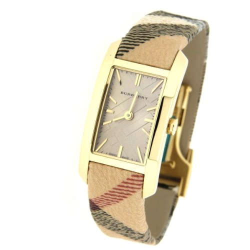 Burberry Burberry BU9509 Damenuhr Burberry-Check beige gold