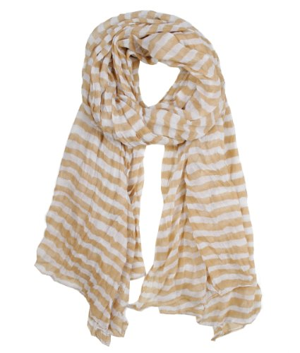 Modadorn Spring Fall New Candy Striped Crinkled