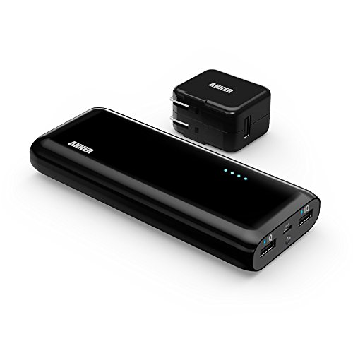 Anker® 2nd Gen Astro E4 13000mAh 3A Fast Portable Charger  External Battery Power Bank with PowerIQ Technology for iPhone, iPad, Samsung and More (Black + Adapter)