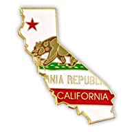 State Shape of California and CA Flag…