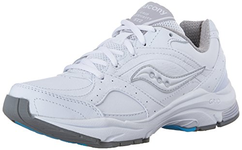 Saucony Women's ProGrid Integrity ST2  Walking Shoe,White/Silver,10.5 D US (White Goodman compare prices)