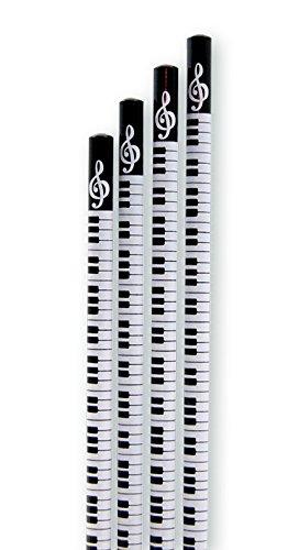 Bleistift-Tastatur-ohne-Radiergummi-10-Stck-Packung-Schnes-Geschenk-fr-Musiker-Musikschler