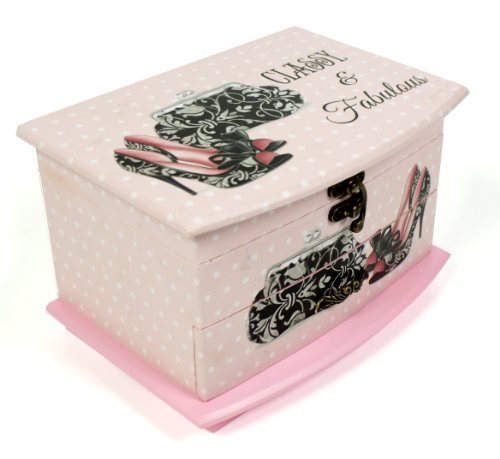 Sophia Vintage Shabby Chic Jewellery Box Lid & Drawer - Classy and Fabulous