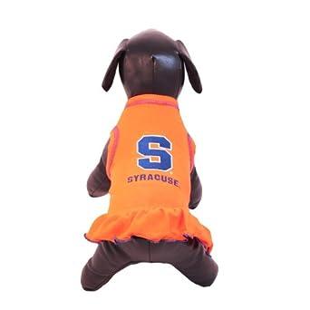 NCAA Syracuse Orange Cheerleader Dog Dress, Team Color, Small
