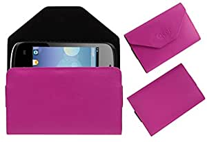 Acm Premium Pouch Case For Zen Ultrafone P37i Flip Flap Cover Holder Pink