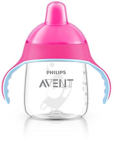 Philips Avent SCF753/07 Tazza con Beccuccio Resistente ai Morsi e Valvola Anti-Goccia, 260 ml, Rosa
