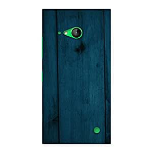 Special Blue Royal Wood Back Case Cover for Lumia 730