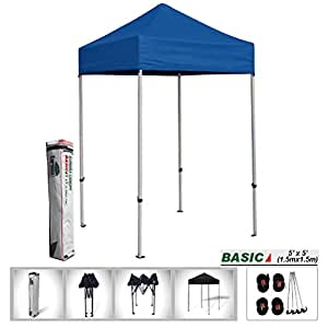 eurmax 5x5 easy pop up tent outdoor patio instant canopy with deluxe carry bag. Black Bedroom Furniture Sets. Home Design Ideas