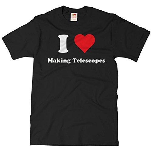 Shirtscope Adult I Heart Making Telescopes T-Shirt - I Love Making Telescopes Tee Xl Black