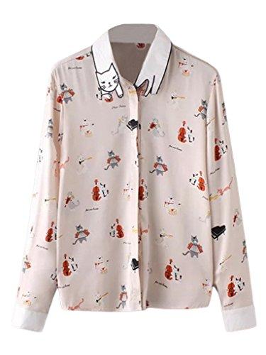 la-vogue-chemisier-blouse-chemise-chic-femme-t-shirt-top-imprime-chat-casual-buste92cm