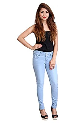 Fnocks Women Slim Fit Jeans Blue 28