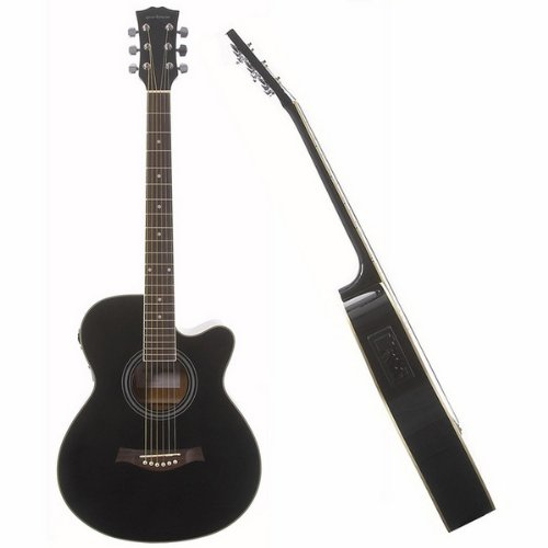 Single Cutaway Electro Acoustic Guitar Black
