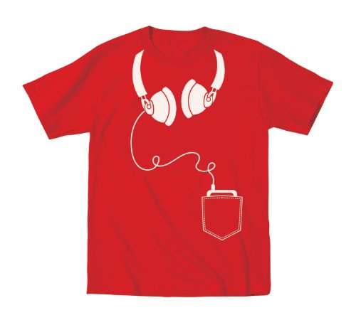 Headphones Pocket - Toddler Shirt - Red - 3T