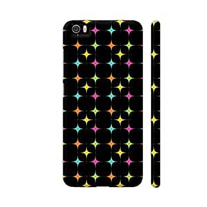 Colorpur Multicolor Geometric Diamond On Black Artwork On Xiaomi Mi 5 Cover (Designer Mobile Back Case) | Artist: Designer Chennai