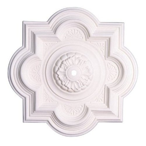Capital Lighting 79465 Florentine 29-Inch Decorative Ceiling Medallion, Paintable White Finish