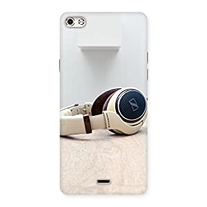 AJAYENTERPRISES Crem Headphone Back Case Cover for Micromax Canvas Silver 5
