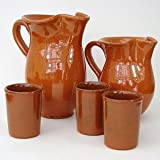 Estrella Terracotta Sangria Jug 35oz / 1ltr Serving Jug, Terracotta Jug, Water Jug, Punch Jug