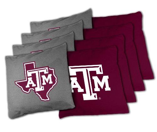 NCAA Texas A&M Aggies 16oz, Duckcloth Cornhole Bean Bags (Texas Corn Hole Bags compare prices)