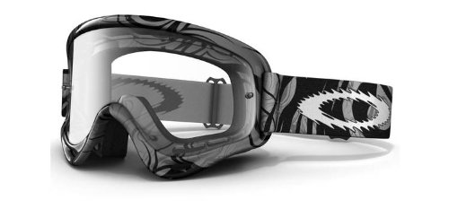 Oakley Oakley MX XS O Frame Goggles with Clear Lens Grey Tribal